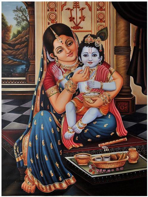 Lord_Krishna_Kannan_Paintings_Yasoda_Feeding_Food_Kids_Govinda_Gopala_Balkrish